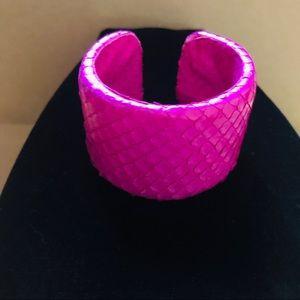 Pink Snakeskin Cuff